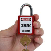 2-Sided Spanish Danger Padlock Label