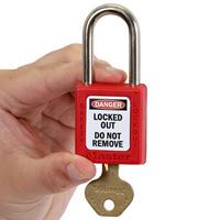 2-Sided OSHA Danger Padlock Label