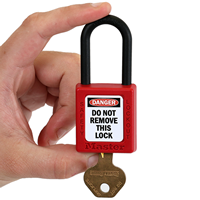 2-Sided OSHA Danger Padlock Label