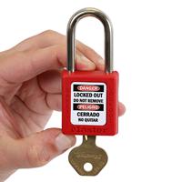 2-Sided Bilingual OSHA Danger Padlock Label