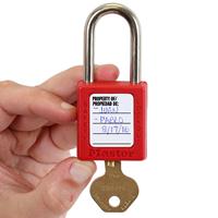 Property of Danger Padlock Label