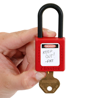Self Laminating OSHA Danger Padlock Label