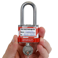 Equipment Locked Out Padlock Label