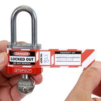 Equipment Locked Out Self Laminating Padlock Label