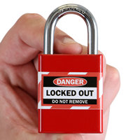 Locked Out Label For Master Lock