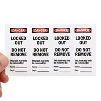 OSHA Danger Padlock Label