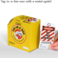 2-Sided OSHA Danger Safety Tag On A Roll