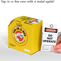 Do not operate tags on a roll with metal eyelet