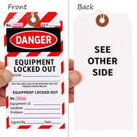 Perforated Danger Equipment Safety Tag