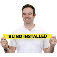 Blind Installed Tag
