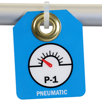 Pneumatic, Double Sided Energy Source Identification Micro Tags