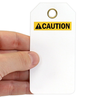 Blank ANSI Caution Tags