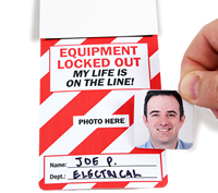 Equipment Locked Out Tag With Nylon Tie