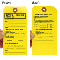 2-Sided Perforated Hot Work Tag