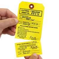 Cutting Welding Permit Tag